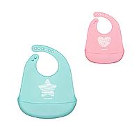 Слюнявчик силиконовый с карманом PASTEL, Canpol babies