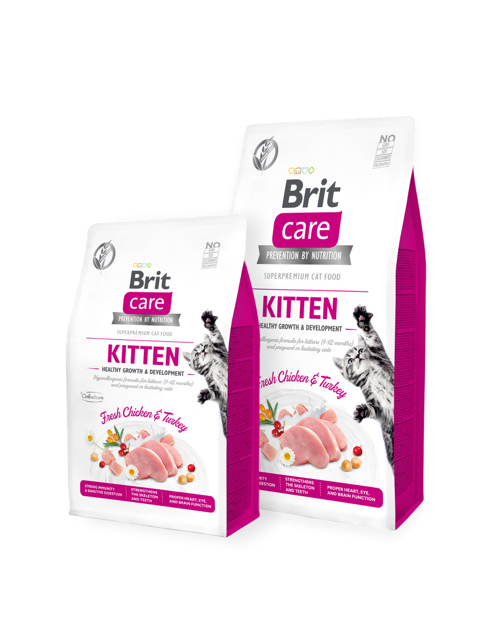 Корм для котов Brit Care Cat Grain-Free KITTEN HEALTHY GROWTH AND DEVELOPMENT 2кг