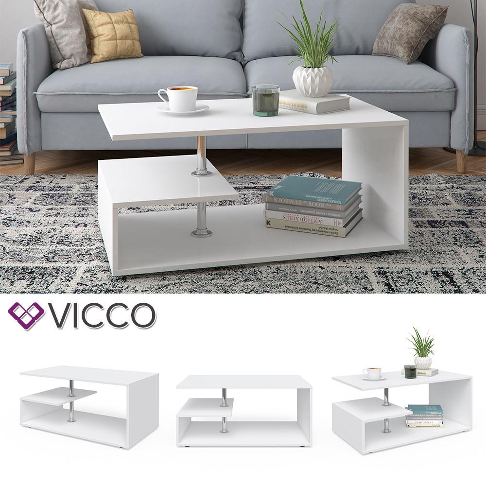 Кофейный столик 91x53 Vicco Guillermo, белый