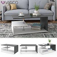 Кофейный столик 91x53 Vicco Guillermo, белый, антрацит