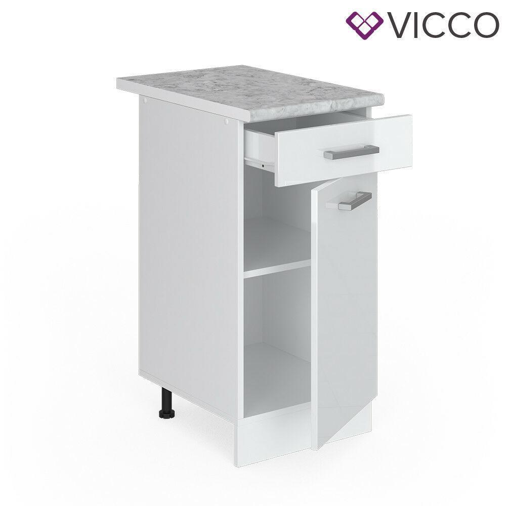 Кухонна тумбочка з ящиком 40х46 Vicco, білий