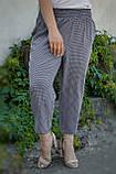 Міранда. Укорочені літні брюки великих розмірів. Чорний лапка., фото 2
