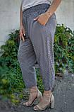 Міранда. Укорочені літні брюки великих розмірів. Чорний лапка., фото 3