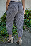 Міранда. Укорочені літні брюки великих розмірів. Чорний лапка., фото 4
