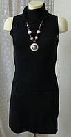 Платье женское теплое вязаное зима мини бренд X-mail р.42-44 4229