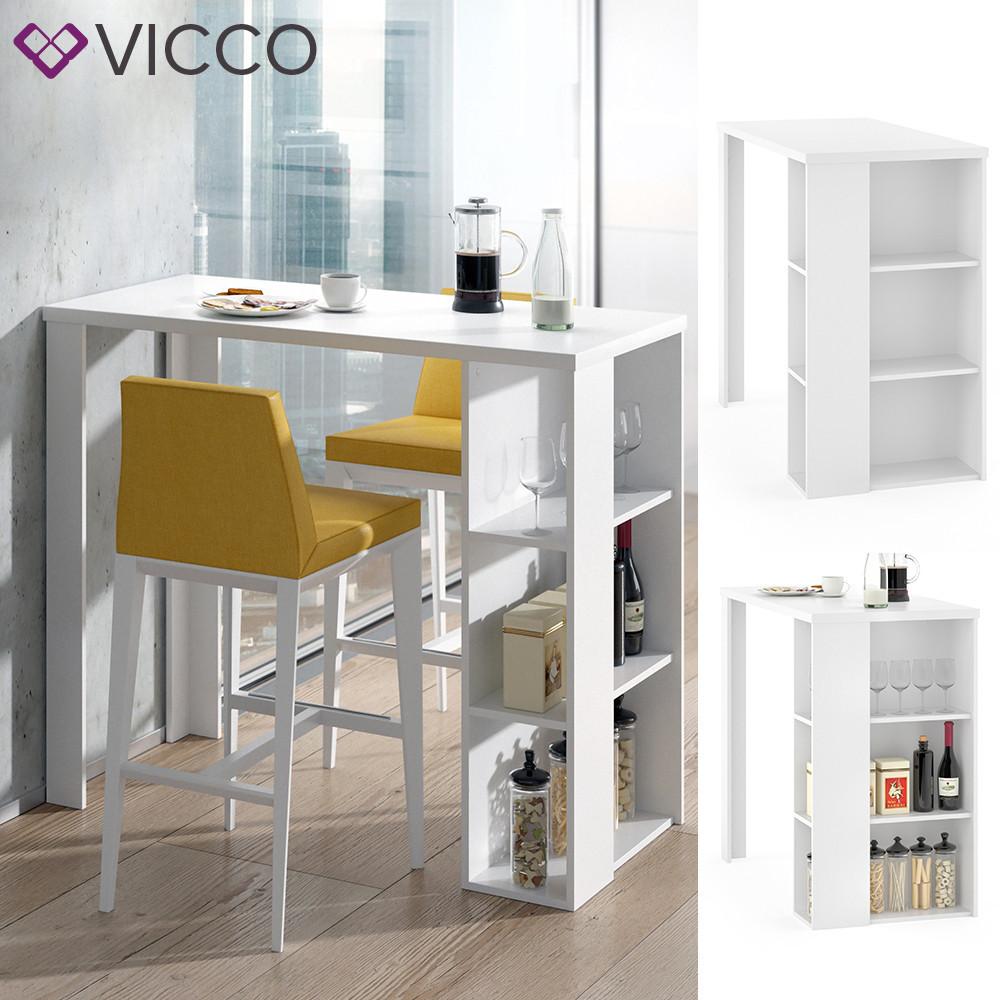 Vicco барний стіл Noel, обідній стіл з відсіками 120х106, колір білий