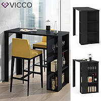 Кухонный барный стол 120х106 Vicco Noel, черный