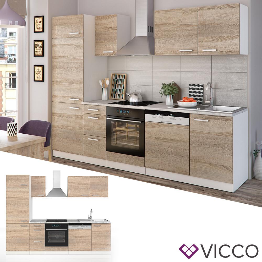 Кухонный гарнитур 270 см Vicco Optima, сонома