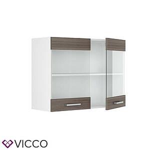 Кухонна скляна шафа 80х31 Vicco, даккар