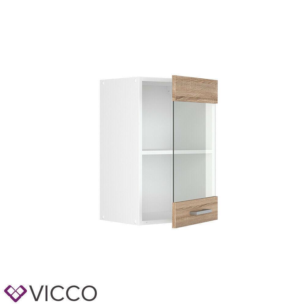 Кухонний скляний шафка 40х31 Vicco, Сонома