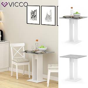 Кухонный столик 65х65 Vicco Ewert, бетон, белый