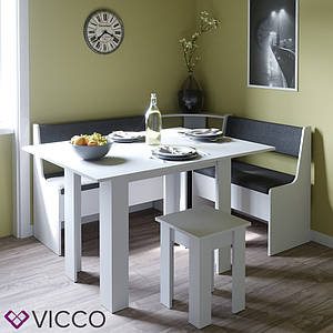 Кухонный уголок на 3 предмета Vicco Roman, белый