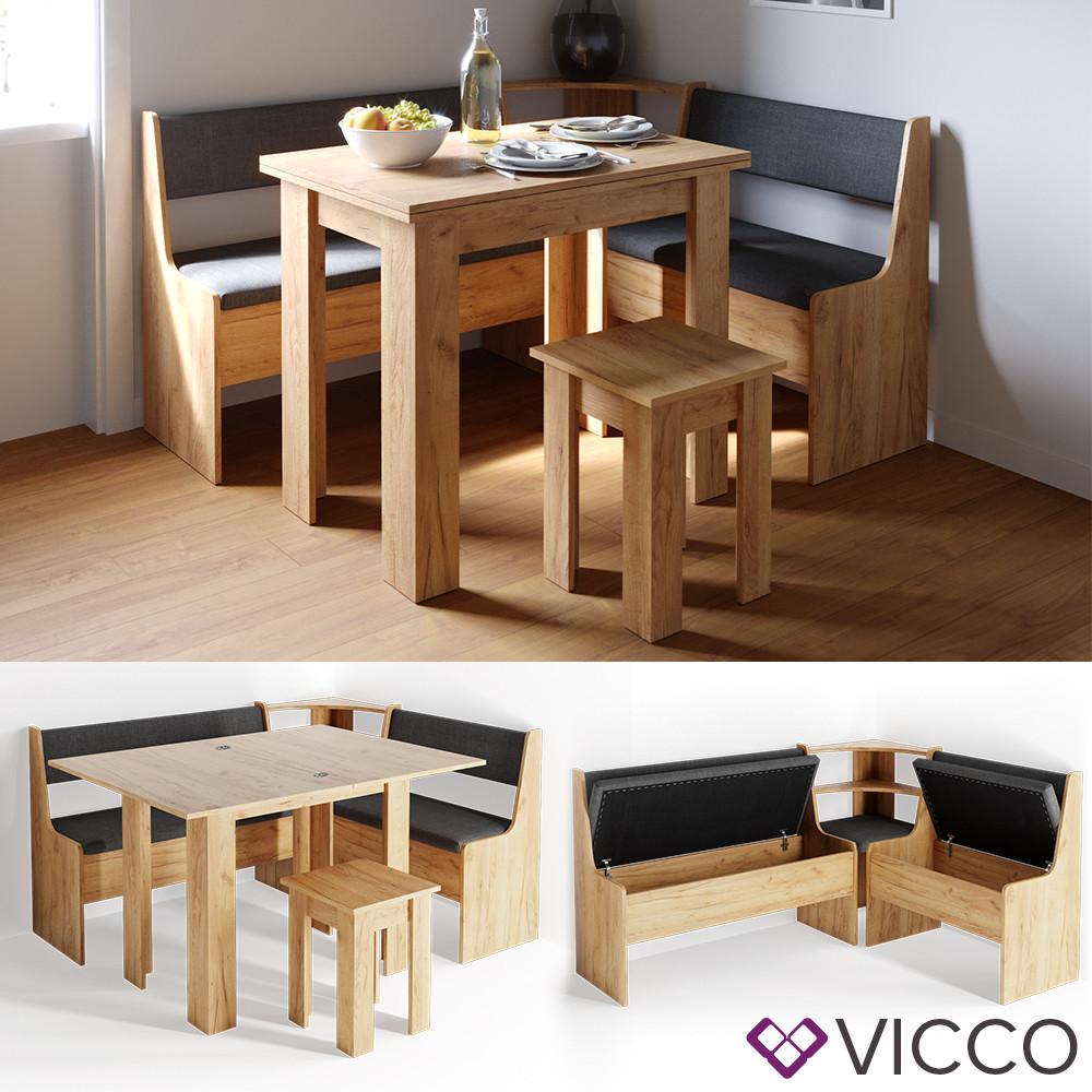 Кухонный уголок на 3 предмета Vicco Roman, песочный