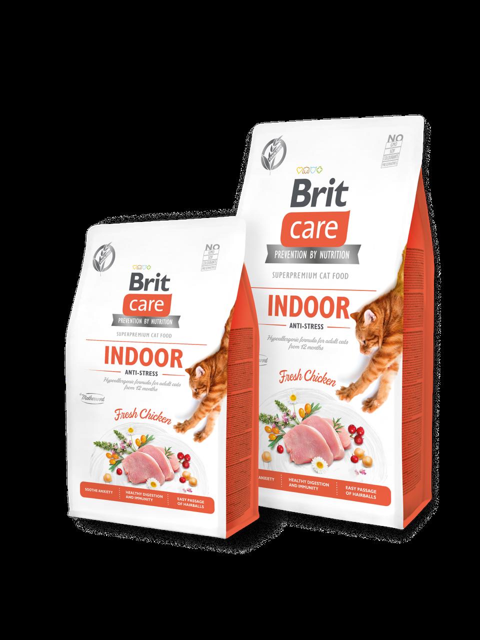 Корм для котов Brit Care Cat Grain-Free INDOOR ANTI-STRESS 2кг