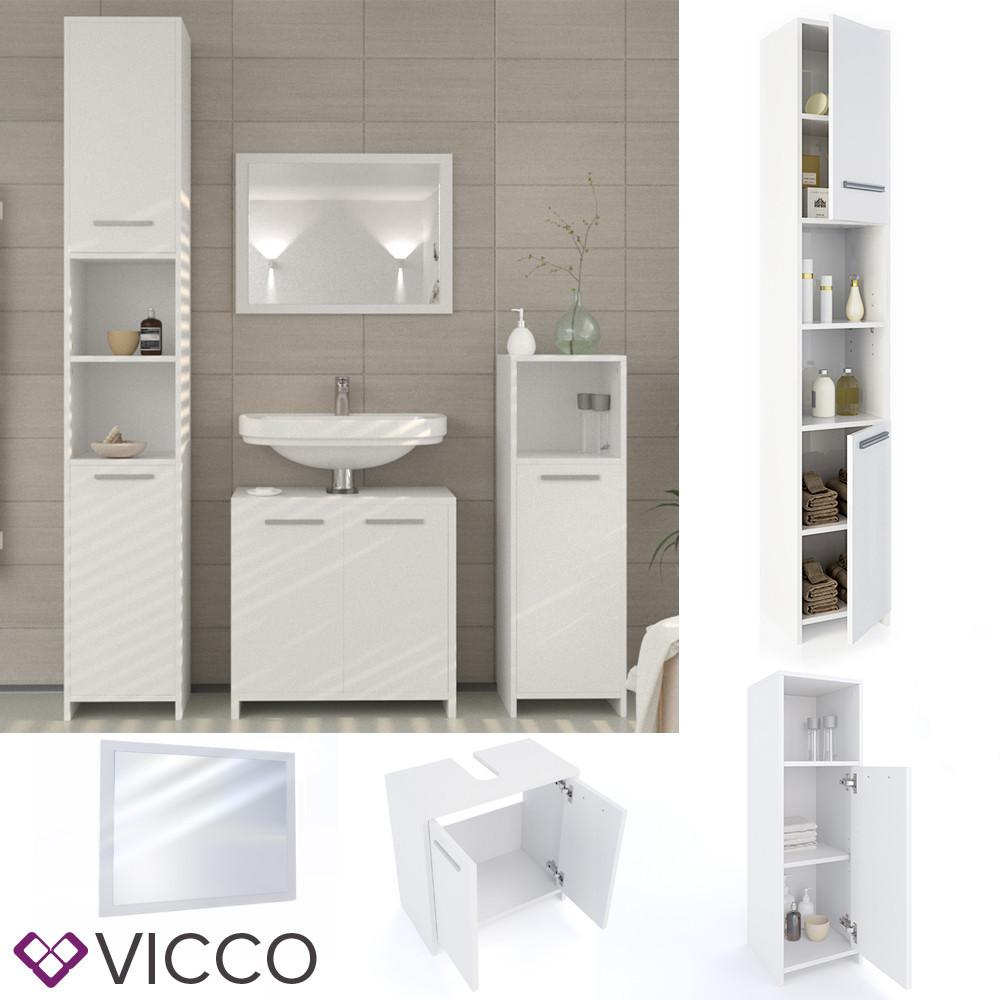 Мебель для ванной, 4 предмета Vicco Kiko, белый