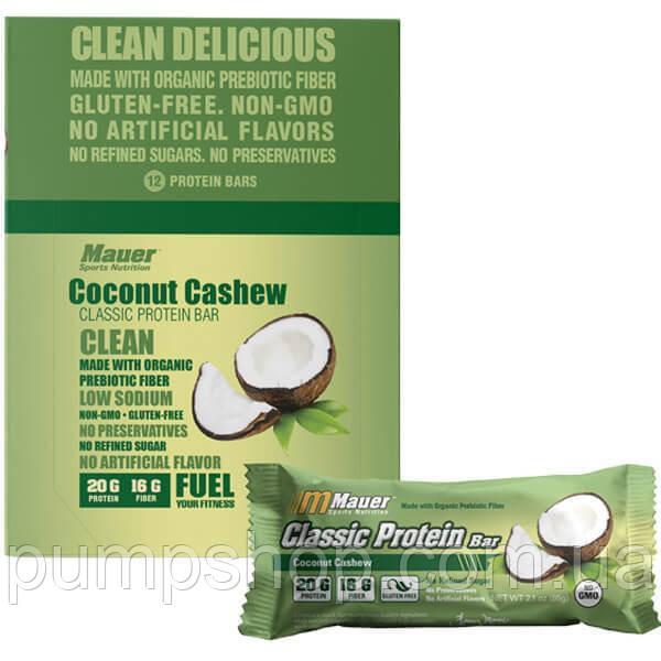 Протеиновый батончик Mauer Nutrition Classic Protein Bar 75 г кокос с кэшью