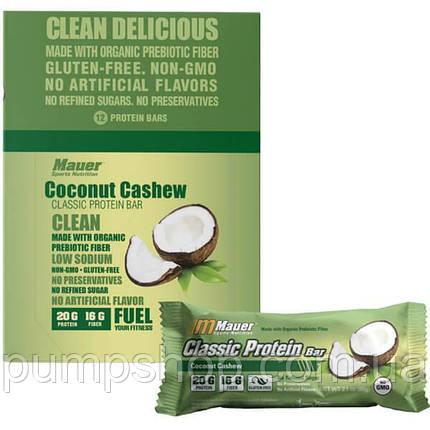 Протеиновый батончик Mauer Nutrition Classic Protein Bar 75 г кокос с кэшью, фото 2