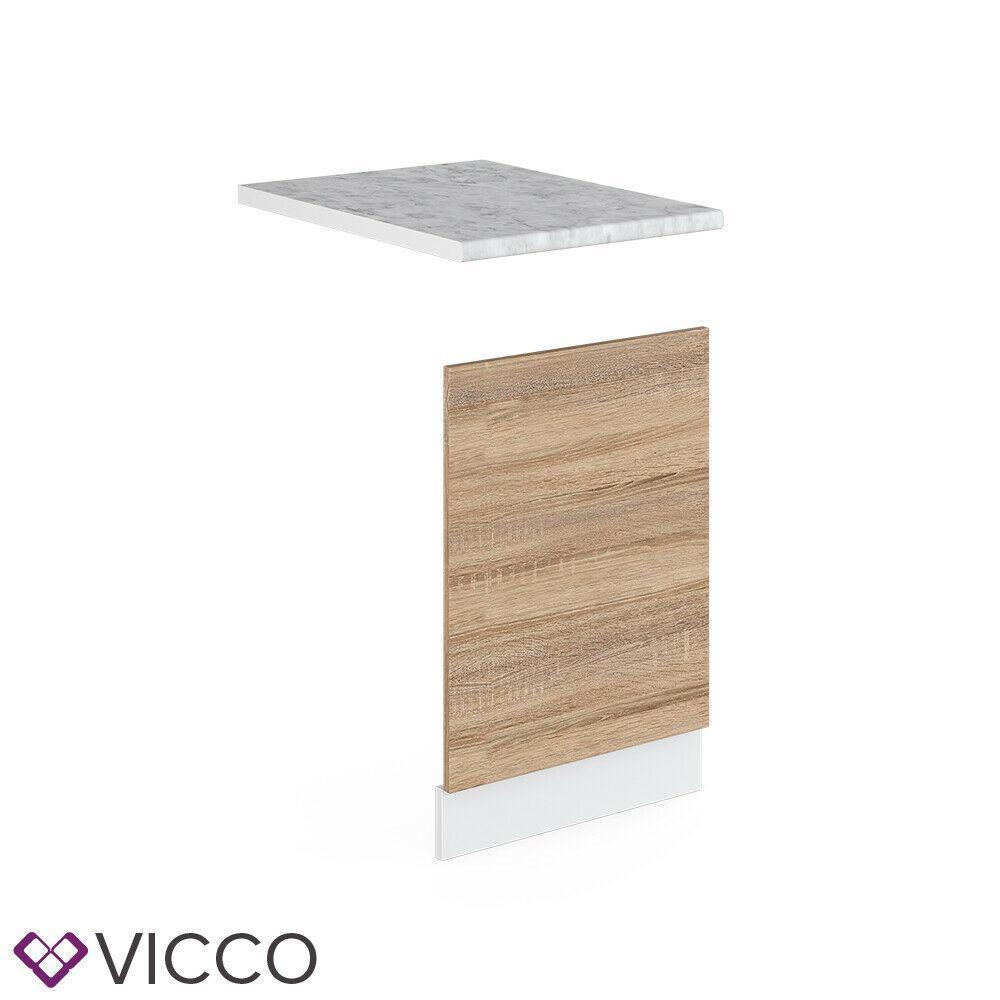 Модуль фасад для посудомойки 45см Vicco + столешница, сонома