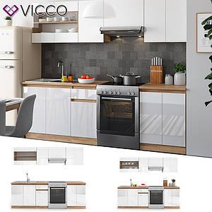 Модульная кухня Vicco Raul 240 см, белая, сонома
