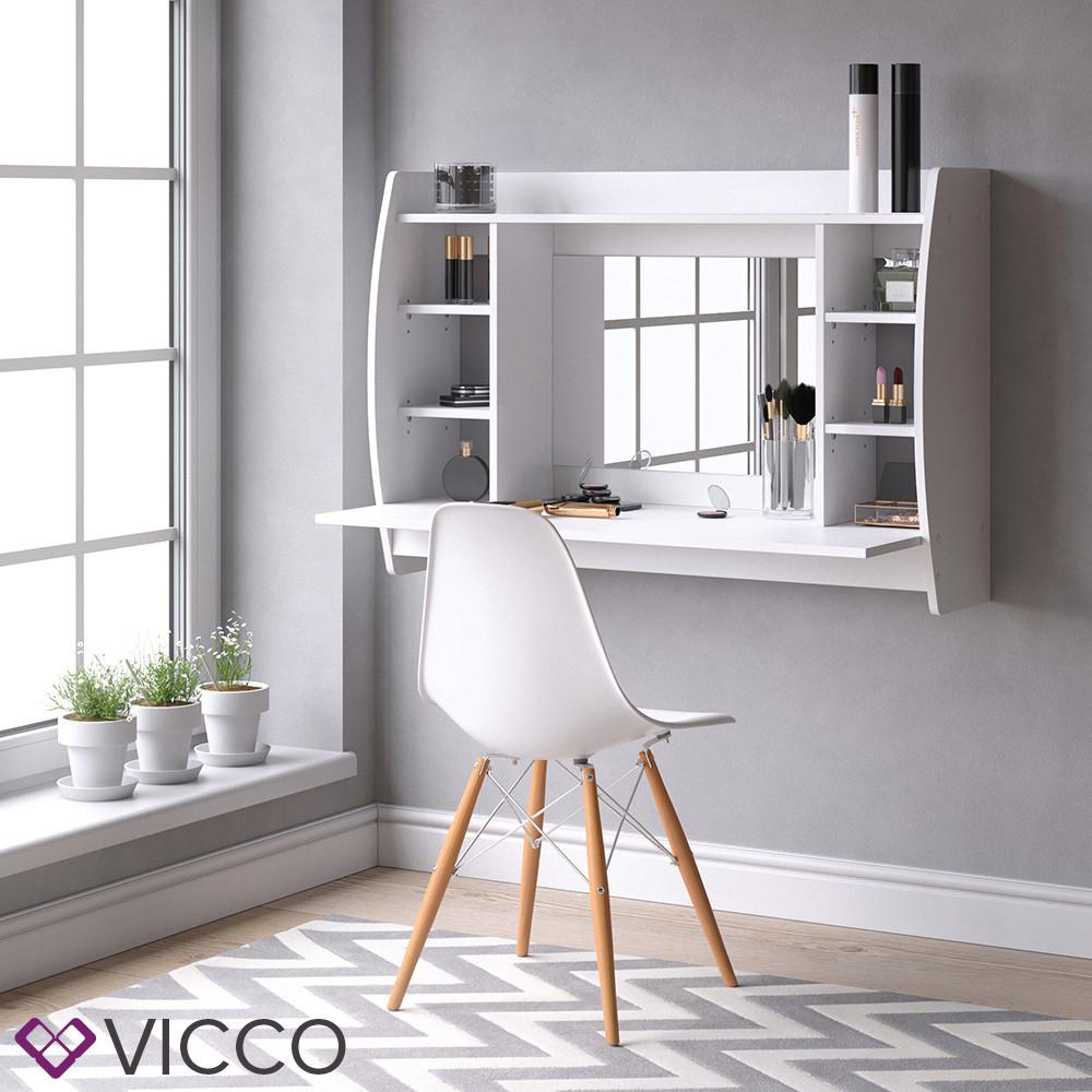 Настенный туалетный столик 110x75 Vicco Beauty, белый