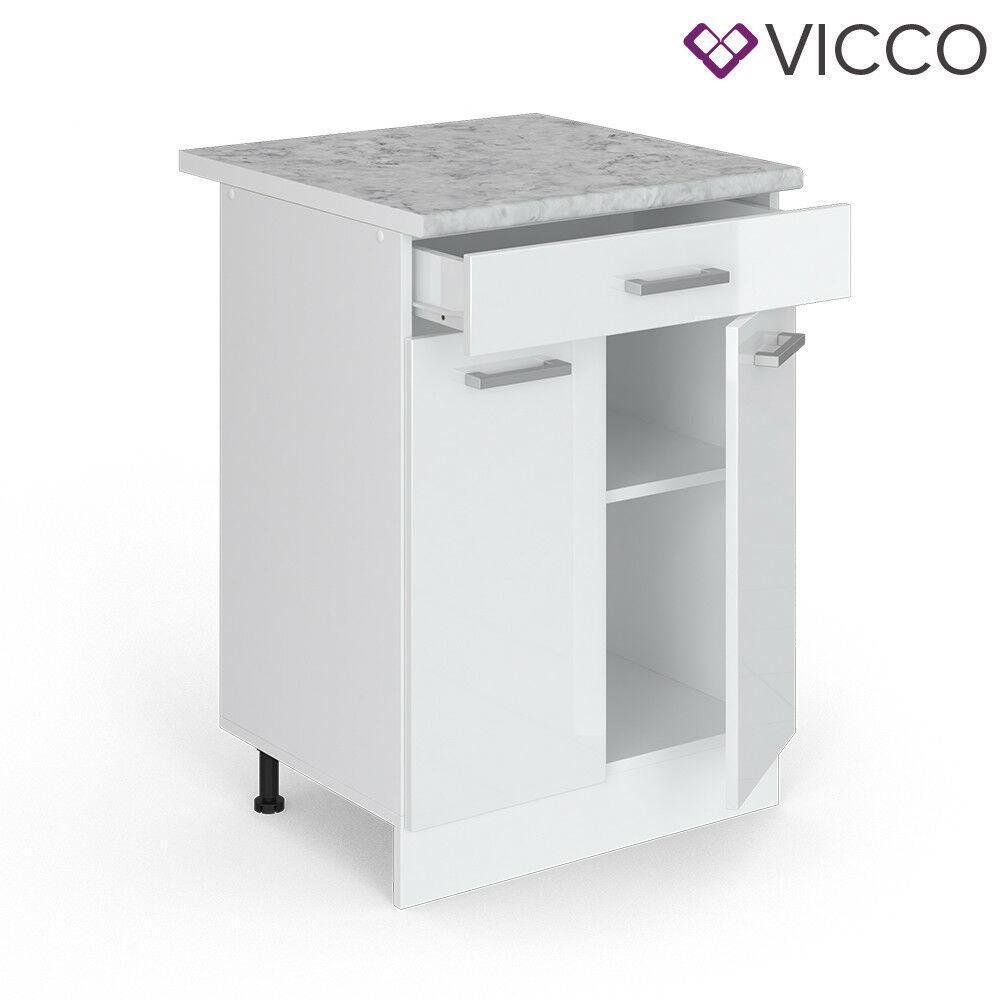Нижня кухонна тумба Vicco 60х46 з ящиком, біла