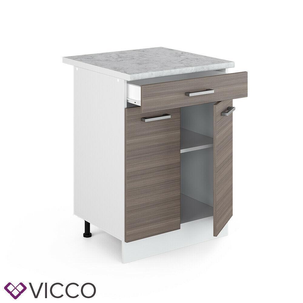 Нижняя кухонная тумба Vicco 60х46 с ящиком, даккар
