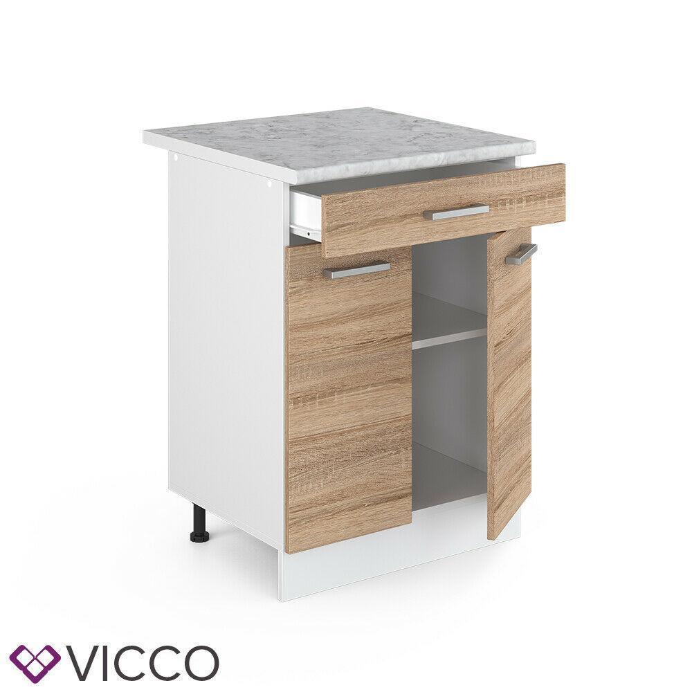 Нижняя кухонная тумба Vicco 60х46 с ящиком, сонома