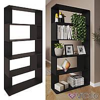 Открытый стеллаж 80x163, 5 полок Vicco, черный