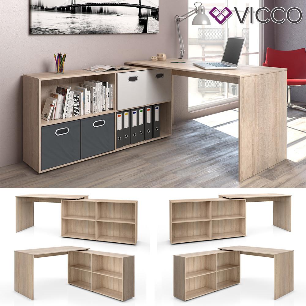 Офисный стол трансформер 137x76 Vicco Flex+, сонома