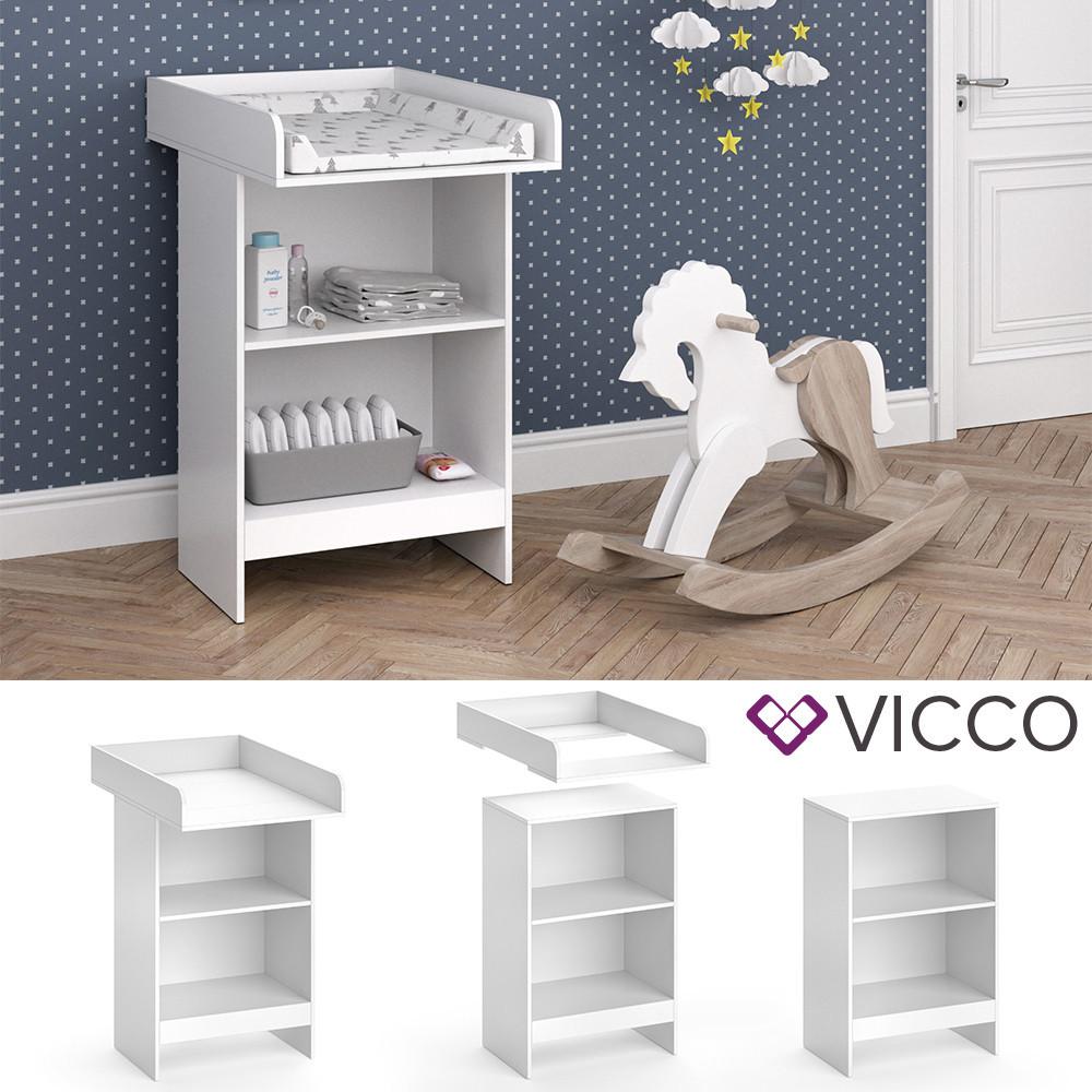 Пеленальный столик 60x103 Vicco Leo, белый