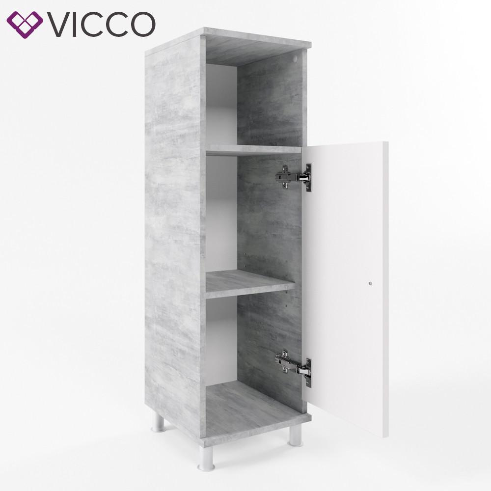 Пенал для ванної 30x95 Vicco Fynn, білий, бетон