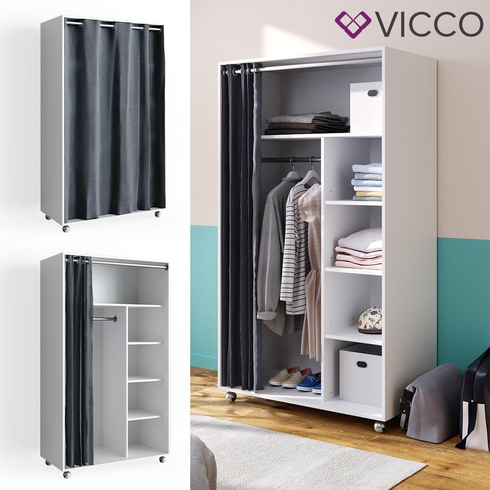 Пересувний гардероб 100x168 Vicco, білий, антрацит