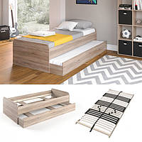 Подростковая кровать 90x200 Vicco Enzo + гостевое место, + ламели, сонома