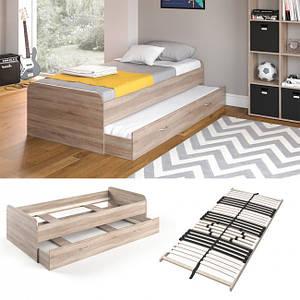 Підліткове ліжко 90x200 Vicco Enzo + гостьове місце, + ламелі, сонома