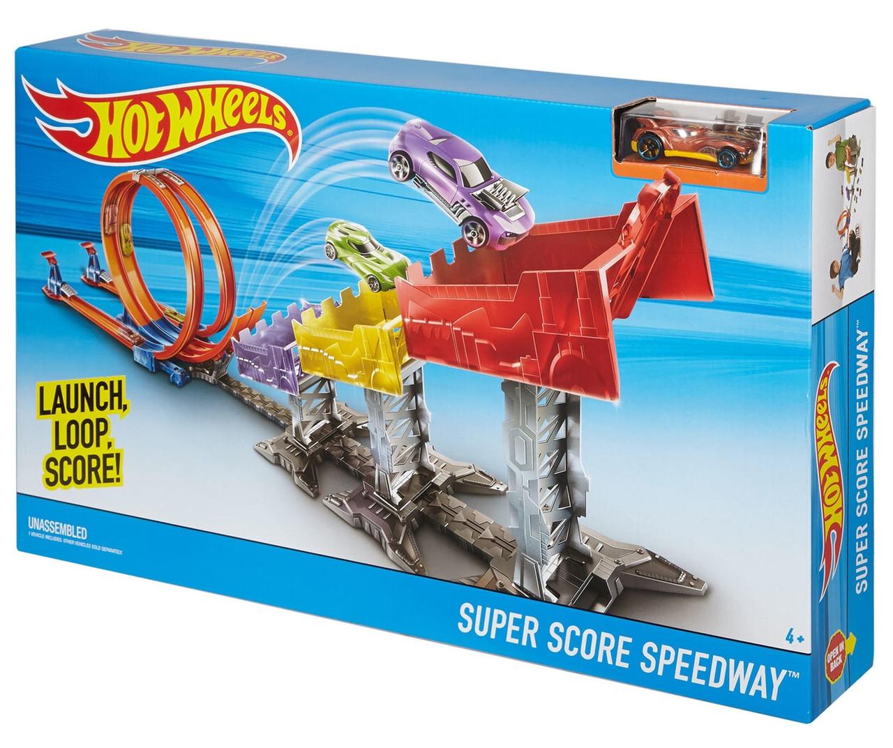 Hot Wheels Трек Хот Вилс Рекордный прыжок Hot Wheels Super Score Speedway Track Set