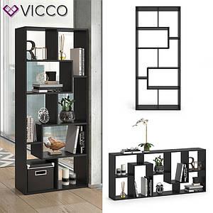 Разделитель комнаты 161x67 Vicco Noa, черный