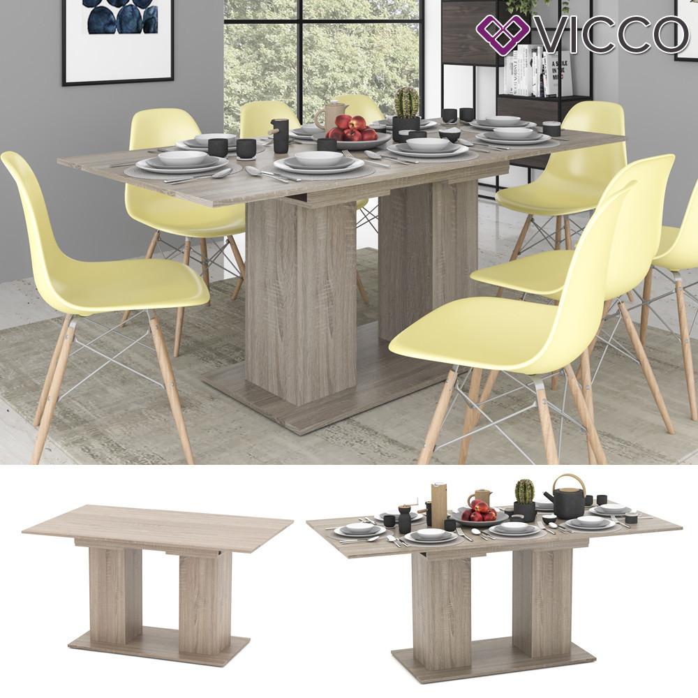 Розкладний обідній стіл 140х90 Vicco Dix, сонома