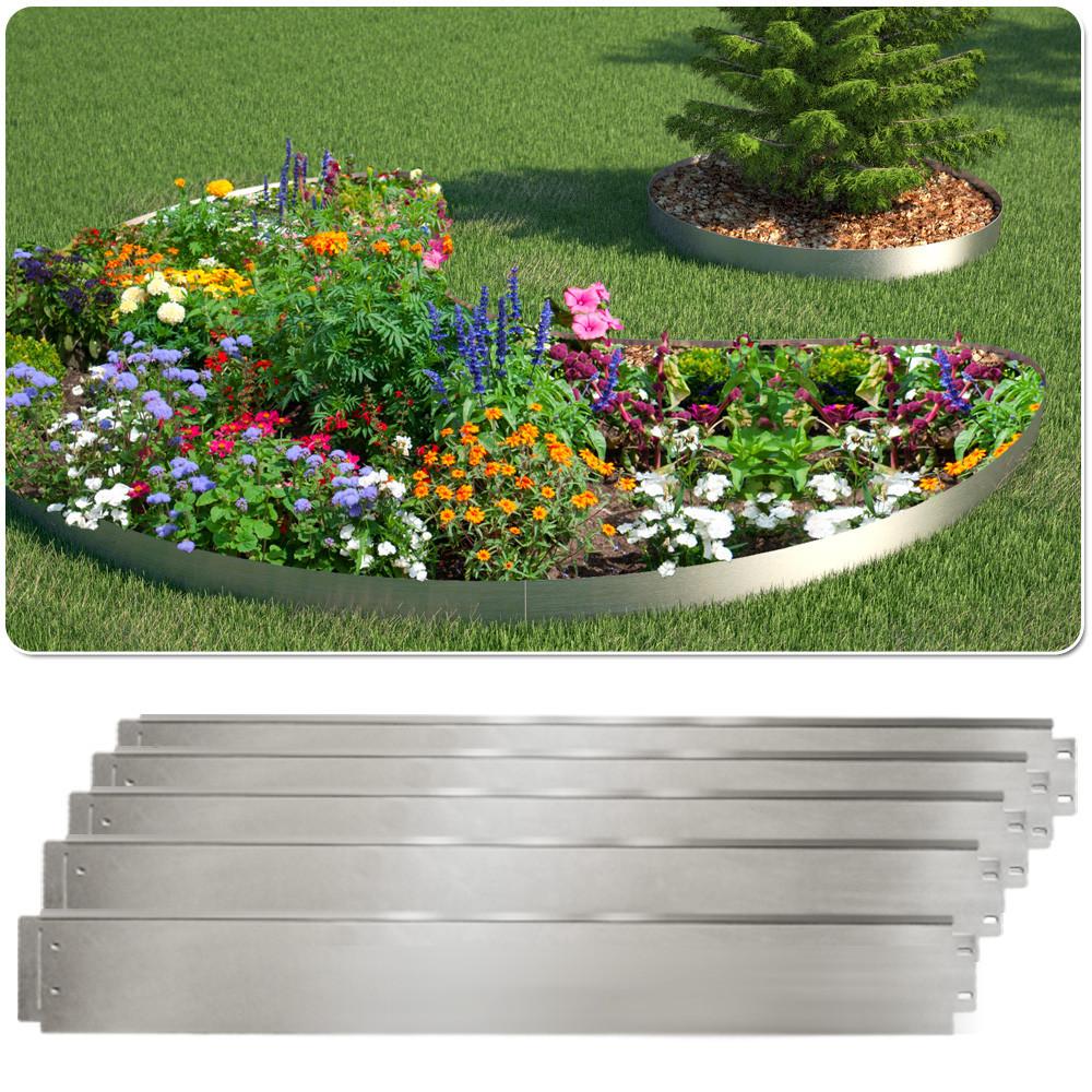 Садовый бордюр 100x14 для клумб и газона, 5 метров, металл