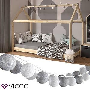 Світлодіодна гірлянда Vicco, 20 кульок, білі і сірі