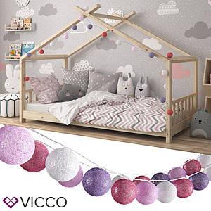 Світлодіодна гірлянда Vicco, 20 кульок, рожеві і бузкові