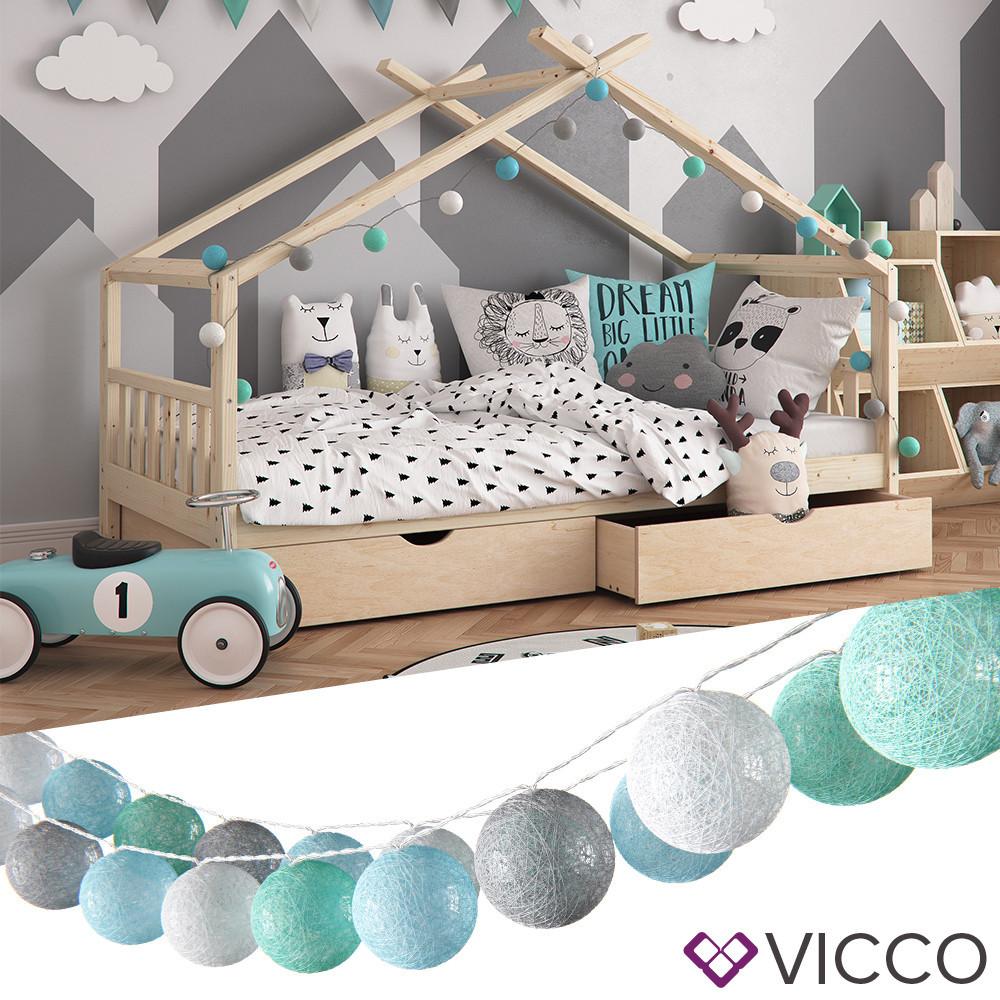 Светодиодная гирлянда Vicco, 20 шариков, серые и зеленые