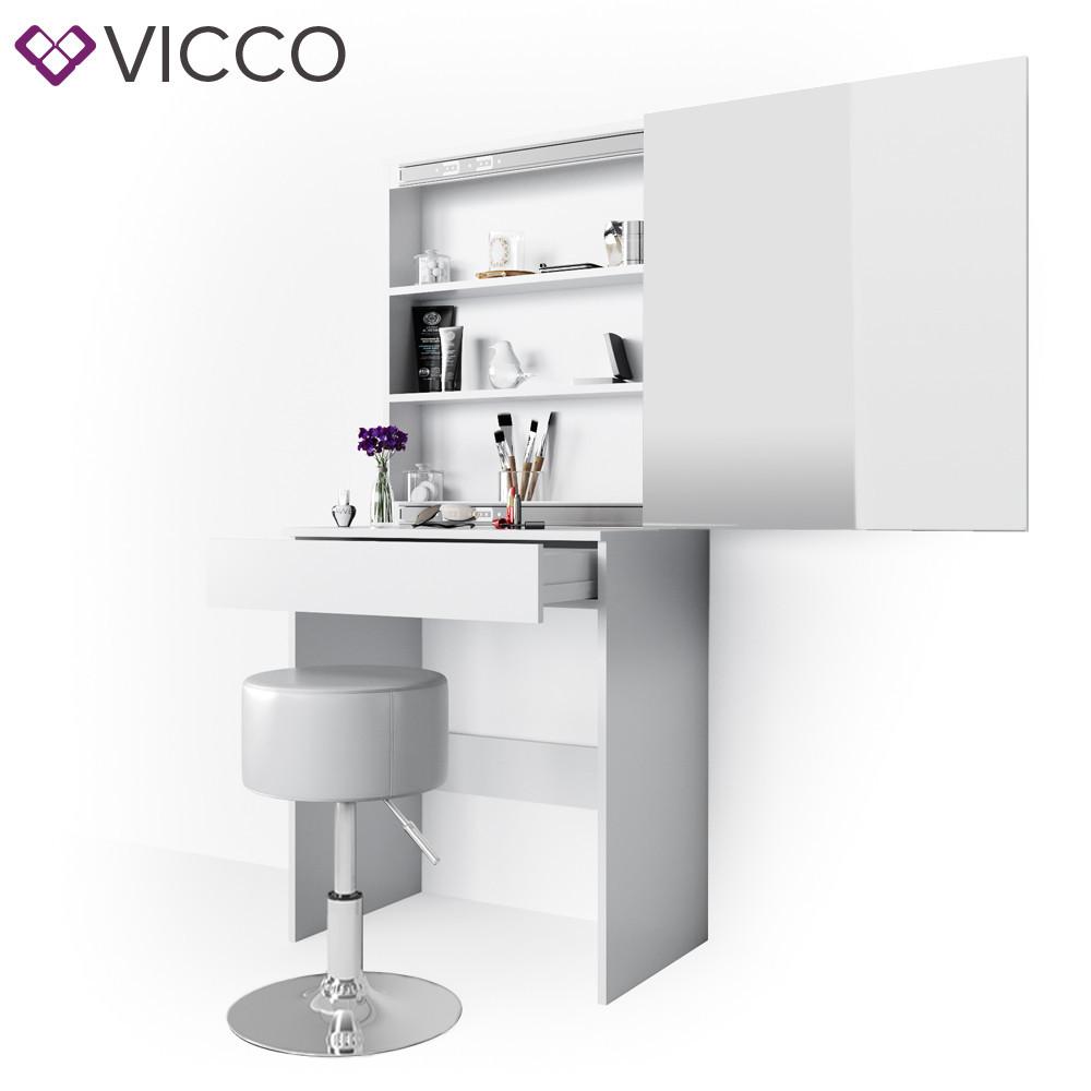 Столик для косметики 68x155 з дзеркалом, Vicco Melle, білий