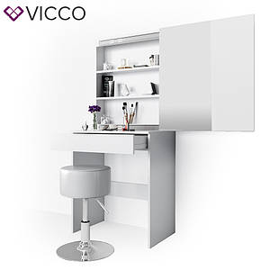 Столик для косметики 68x155 с зеркалом, Vicco Melle, белый
