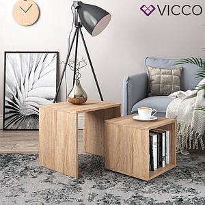 Столик дуэт Vicco Power Duo, сонома