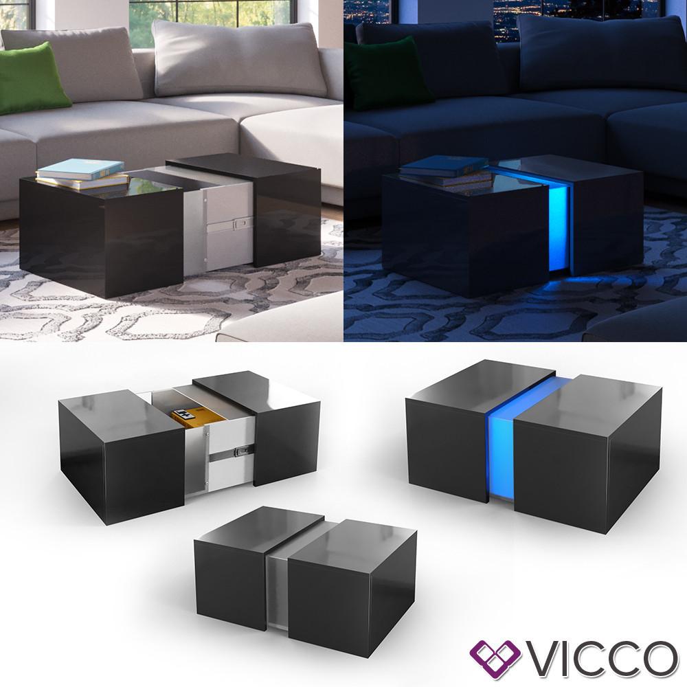 Столик с LED подсветкой 71x60 Vicco Dandy, черный