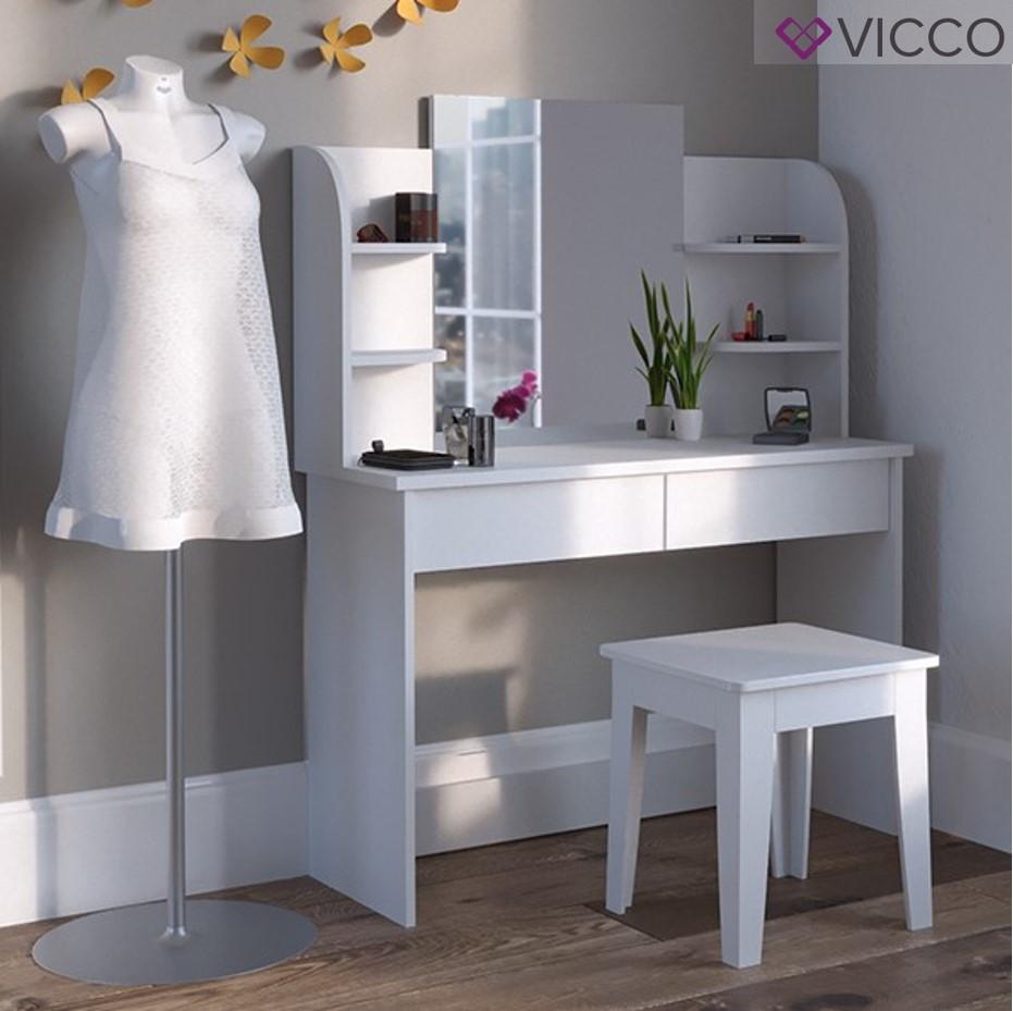 Туалетный столик 108x142 Vicco Charlotte, белый