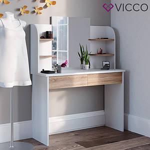 Туалетний столик 108x142 Vicco Charlotte, білий, сонома