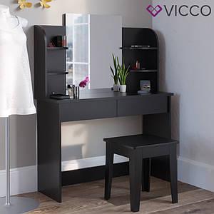 Туалетний столик 108x142 Vicco Charlotte, чорний