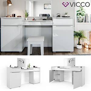 Туалетний столик Vicco Lilli, 190x90, білий глянець