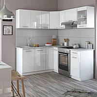 Угловая кухня 190 см Vicco Rick, белый глянец